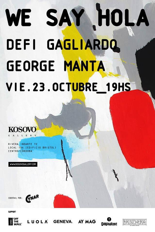 «We say hola»: George Manta – Defi Gagliardo en KOSOVO GALLERY