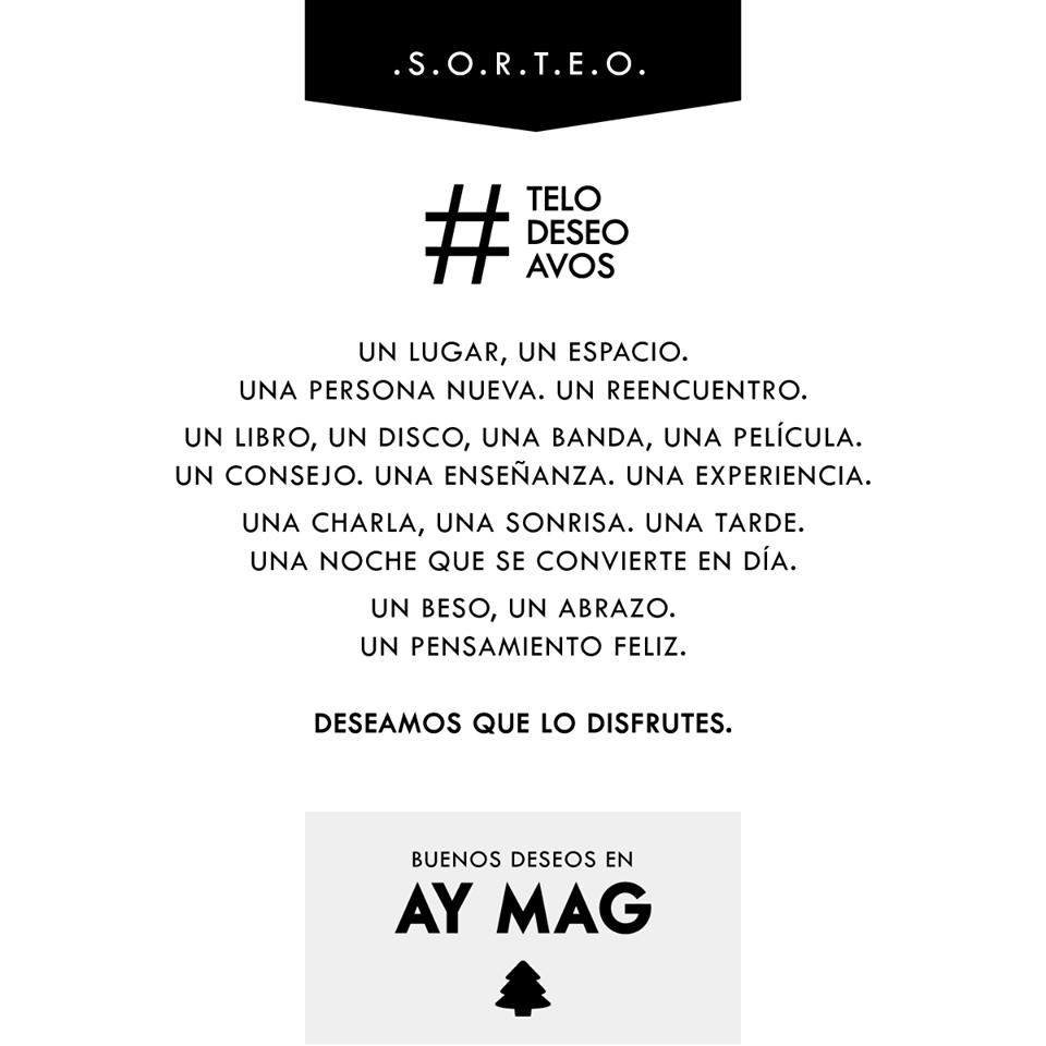 Ganadores S.O.R.T.E.O. Buenos Deseos en AY MAG