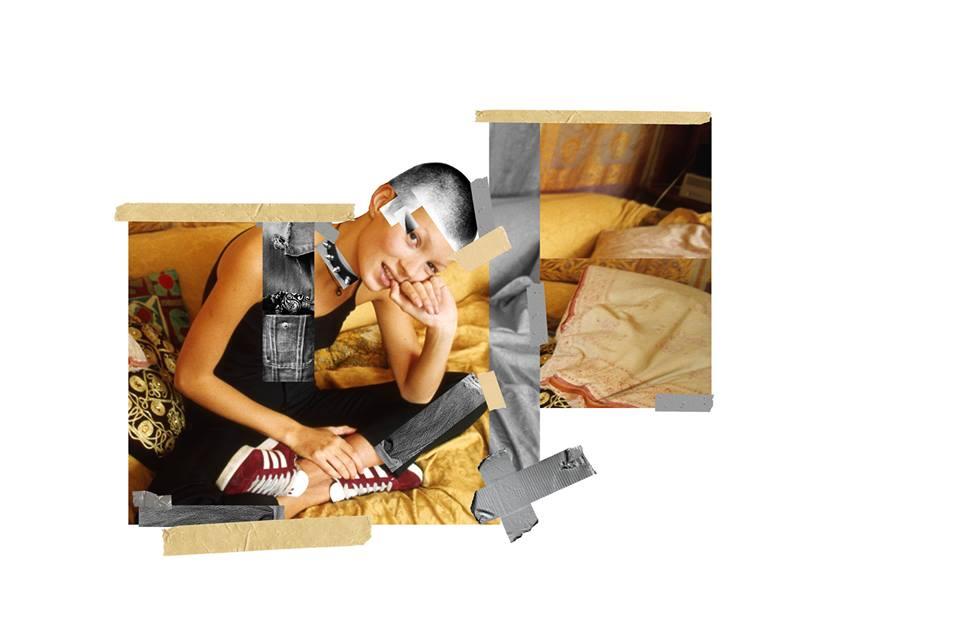 adidas Originals: Kate Moss intervenida en una fotografía de 1993