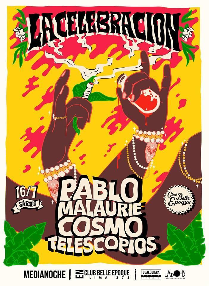 Los ciclos de la música: Pablo Malaurie, Cosmo y Telescopios en «La Celebración»