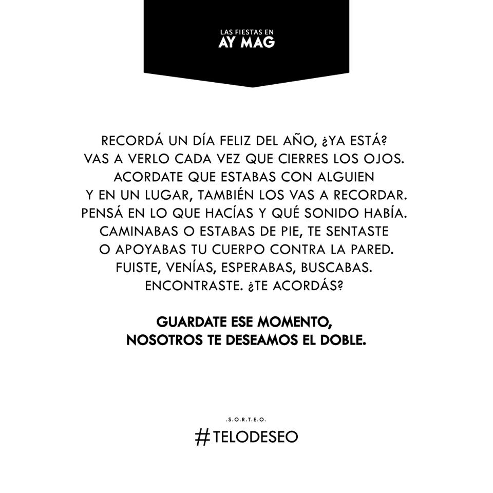 BASES Y CONDICIONES SORTEO AÑO NUEVO: #TELODESEO