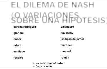 """Circulación de artes: """"El dilema de Nash"""""""