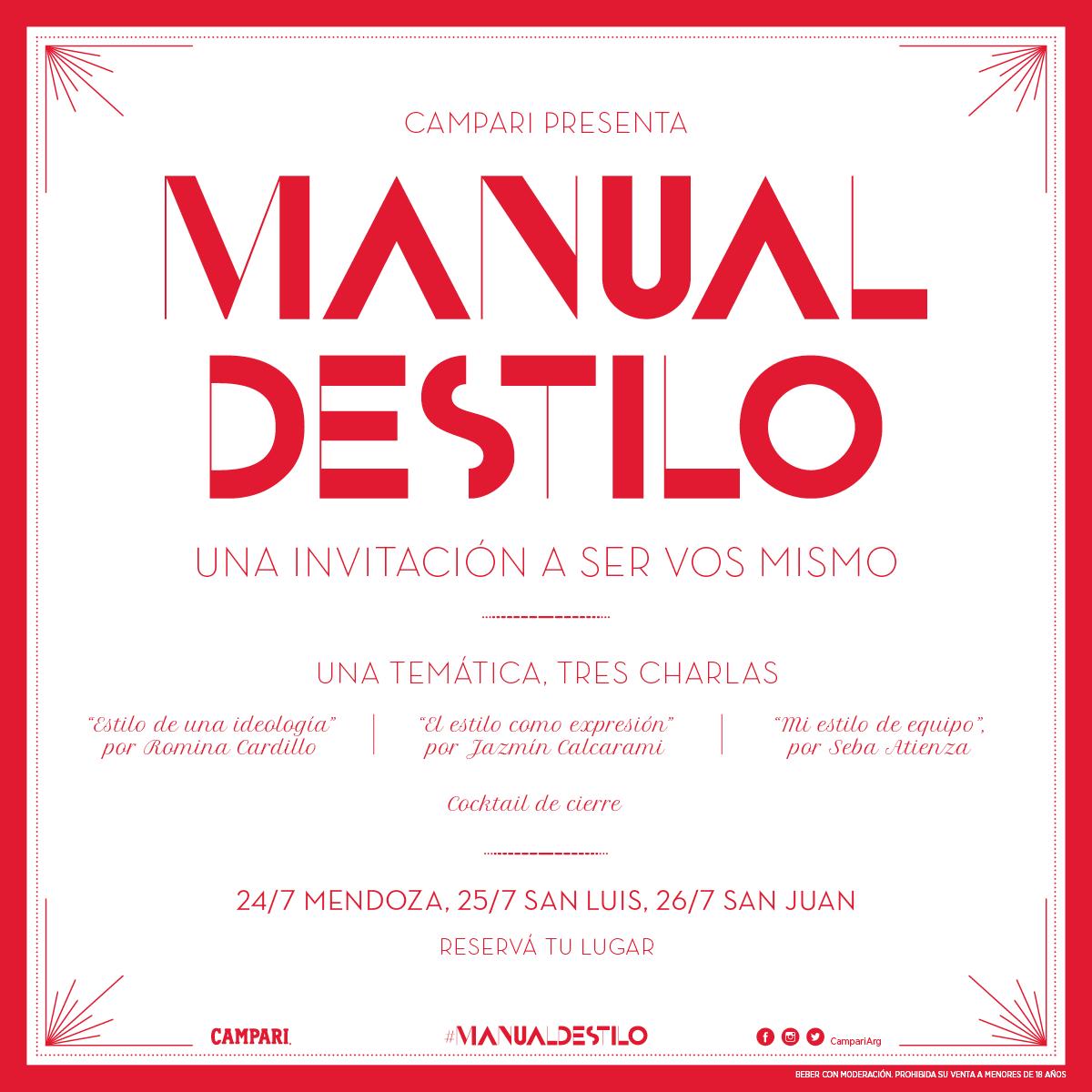 Llega #ManualDestilo a Mendoza, San Luis y San Juan