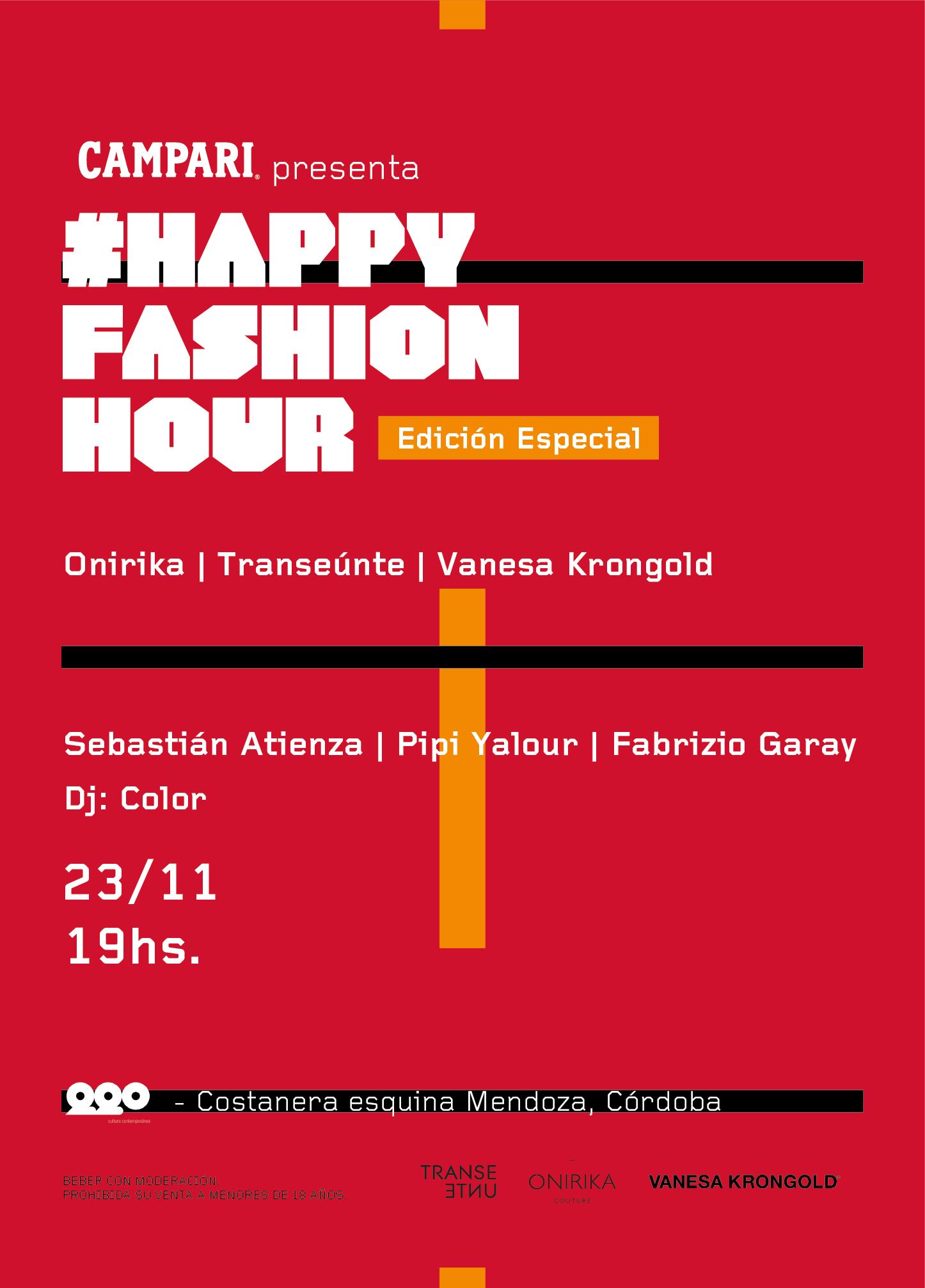 Campari presenta una Edición Especial de #HappyFashionHour