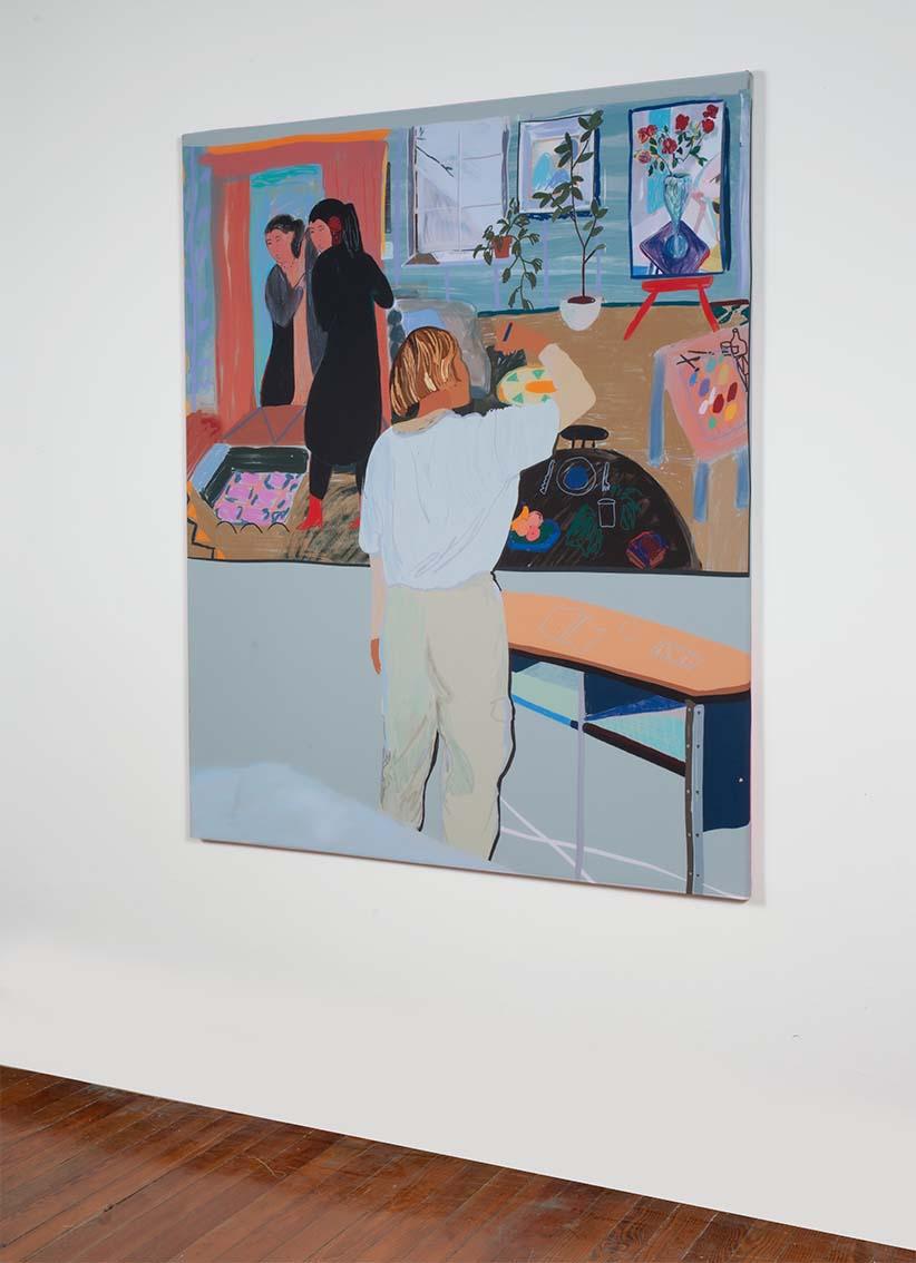 Santiago Paredes – interior con interior – sublimacion sobre seda – 130×110 cm – 2020